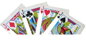 tour de magie carte avec les valets